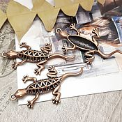 Материалы для творчества handmade. Livemaster - original item Pendant Lizard 50x26x6 mm for copper (Ref. 2616). Handmade.