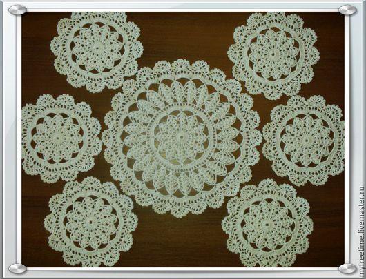 Текстиль, ковры ручной работы. Ярмарка Мастеров - ручная работа. Купить Салфетки для сервировки стола. Handmade. Белый, 100% хлопок