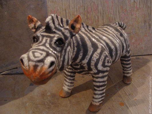Статуэтки ручной работы. Ярмарка Мастеров - ручная работа. Купить зебры. Handmade. Керамика, табунчик, глина белая