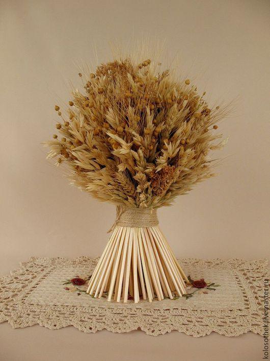 """Букеты ручной работы. Ярмарка Мастеров - ручная работа. Купить """" Дух поля"""" Сноп из колосьев.  Соломка. Колосья. Пшеница. Овес. Лён.. Handmade."""