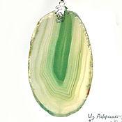 Украшения handmade. Livemaster - original item Pendant of emerald wavy agate. Handmade.