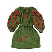 """Одежда ручной работы. Ярмарка Мастеров - ручная работа Платье-вышиванка """"Лесная Роза"""". Handmade."""