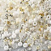 Материалы для творчества handmade. Livemaster - original item 10g Toho MIX 3212 white Japanese beads TOHO Hasu. Handmade.