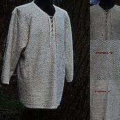 Мужская одежда handmade. Livemaster - original item Natural linen Men`s shirt