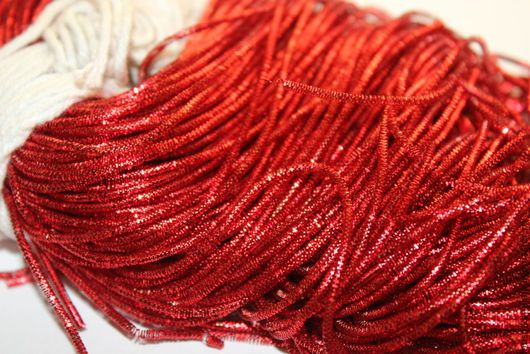Вышивка ручной работы. Ярмарка Мастеров - ручная работа. Купить Трунцал индийский Красный 1 мм (633). Handmade. Канитель