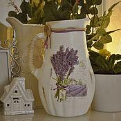 """Для дома и интерьера ручной работы. Ярмарка Мастеров - ручная работа Кувшин """"Provence"""". Handmade."""