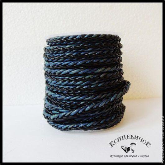 Для украшений ручной работы. Ярмарка Мастеров - ручная работа. Купить Шнур  6мм сине-черный Нидерланды. Handmade.