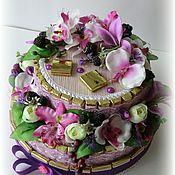 """Букеты ручной работы. Ярмарка Мастеров - ручная работа Торт из конфет """" Орхидея"""". Handmade."""