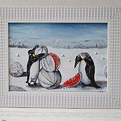 """Картины ручной работы. Ярмарка Мастеров - ручная работа Картина """"Снежные арбузы"""" (авторская). Handmade."""