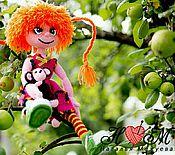 Куклы и игрушки ручной работы. Ярмарка Мастеров - ручная работа Вязаная кукла Пеппи Длинный Чулок. Handmade.
