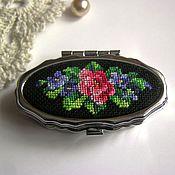 Для дома и интерьера handmade. Livemaster - original item Pillbox with embroidery