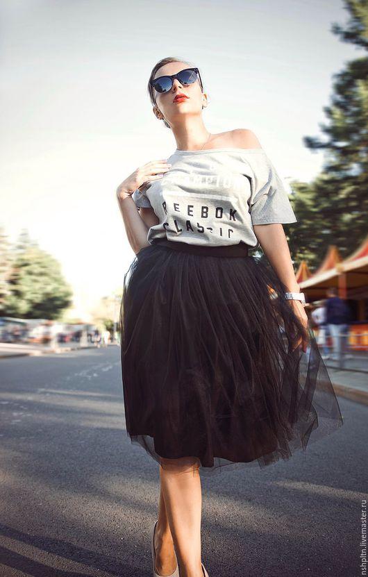Юбки ручной работы. Ярмарка Мастеров - ручная работа. Купить юбка пачка из фатина черная. Handmade. Черный, юбка миди