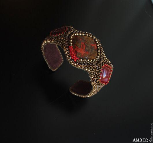 """Браслеты ручной работы. Ярмарка Мастеров - ручная работа. Купить Браслет """"Marokko"""". Handmade. Хаки, зелленый браслет, натуральная кожа"""