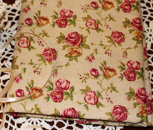 Шитье ручной работы. Ярмарка Мастеров - ручная работа. Купить Ткань лен хлопок Розы (ретро, прованс,шебби). Handmade.