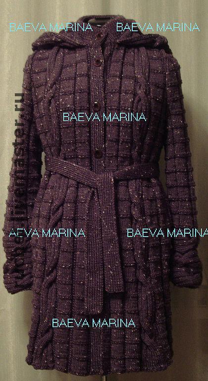 """Верхняя одежда ручной работы. Ярмарка Мастеров - ручная работа. Купить Пальто с капюшоном """"Lilac"""". Handmade. Вязаное пальто"""