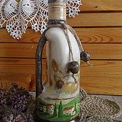 Для дома и интерьера ручной работы. Ярмарка Мастеров - ручная работа Бутылочка с ручкой для масла Oliva. Handmade.