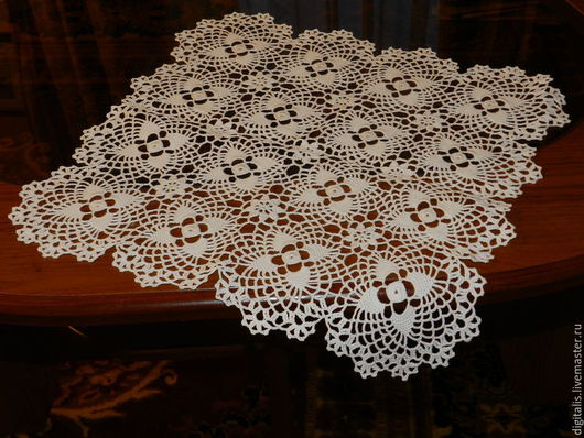 Текстиль, ковры ручной работы. Ярмарка Мастеров - ручная работа. Купить Нежнейшая салфетка из мотивов. Handmade. Белый, бохо стиль