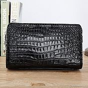 Сумки и аксессуары handmade. Livemaster - original item Bag-clutch from the abdominal part of genuine crocodile leather.. Handmade.
