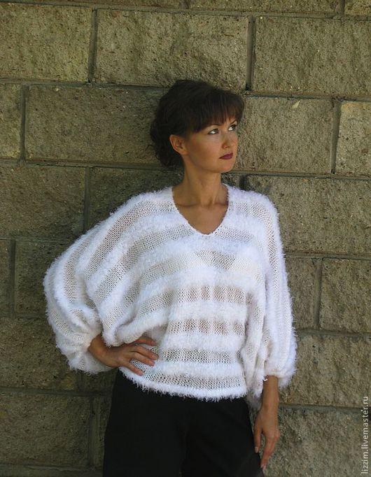"""Кофты и свитера ручной работы. Ярмарка Мастеров - ручная работа. Купить Джемпер """"Маргарита"""".. Handmade. Белый свитер, женский свитер"""