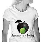 Одежда handmade. Livemaster - original item T shirt Appearance is deceptive. Handmade.