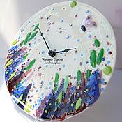 """Для дома и интерьера ручной работы. Ярмарка Мастеров - ручная работа Часы """"Прованс"""", фьюзинг, 27 см. Handmade."""