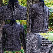 Одежда handmade. Livemaster - original item Jackets: Tweed linen .Jacket with zipper