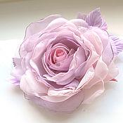 handmade. Livemaster - original item FABRIC FLOWERS. Chiffon rose.