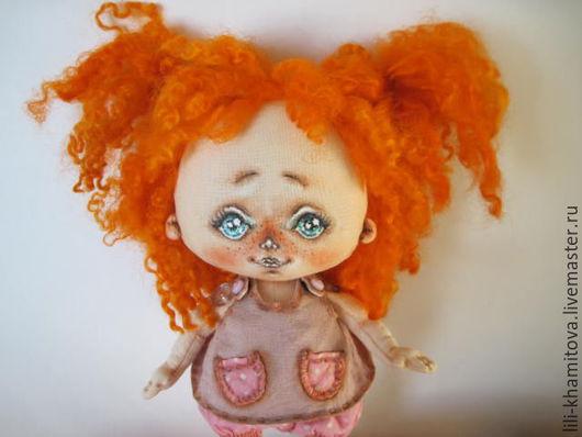 Человечки ручной работы. Ярмарка Мастеров - ручная работа. Купить Малышка Лялечка. Handmade. Коралловый, текстильная кукла, кукла в подарок