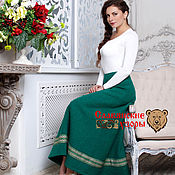 Одежда handmade. Livemaster - original item Skirt wool green. Handmade.