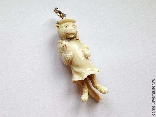 """Кулоны, подвески ручной работы. Ярмарка Мастеров - ручная работа. Купить Подвеска """"Белая кошка"""" 1. Handmade. Белый, кулон"""