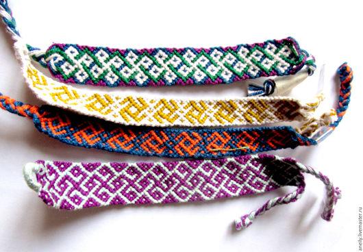 Солярные символы на этих фенечках могут послужить оберегами и амулетами на счастье и удачу.