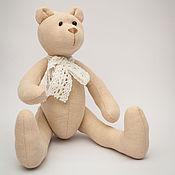 Куклы и игрушки ручной работы. Ярмарка Мастеров - ручная работа Миша бежевый. Handmade.