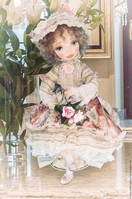 Коллекционные куклы ручной работы. Ярмарка Мастеров - ручная работа. Купить Иоганна текстильная кукла. Handmade. Кремовый, авторская игрушка