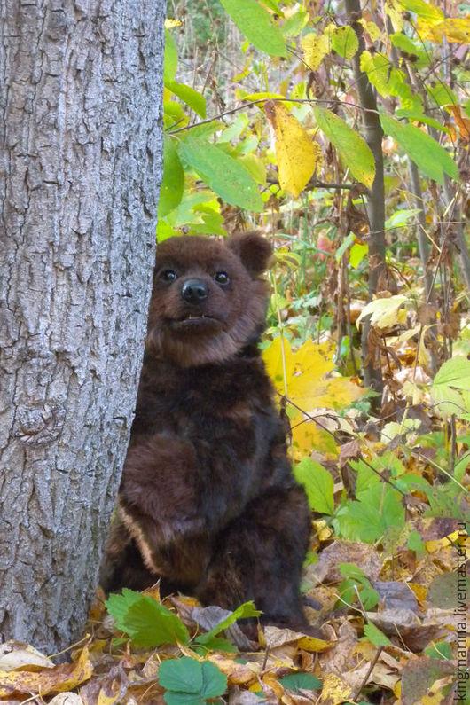 Мишки Тедди ручной работы. Ярмарка Мастеров - ручная работа. Купить Бурый медвеженок  Bruni. Handmade. Коричневый, мишки