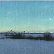Картины и панно handmade. Livemaster - original item To purchase a hand drawn picture on canvas of View of Pereslavl. Handmade.