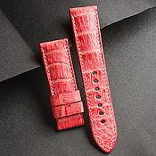 Украшения handmade. Livemaster - original item Crocodile Leather Watchband (05). Handmade.