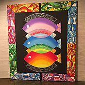 """Картины и панно ручной работы. Ярмарка Мастеров - ручная работа Картина """" Три"""". Handmade."""