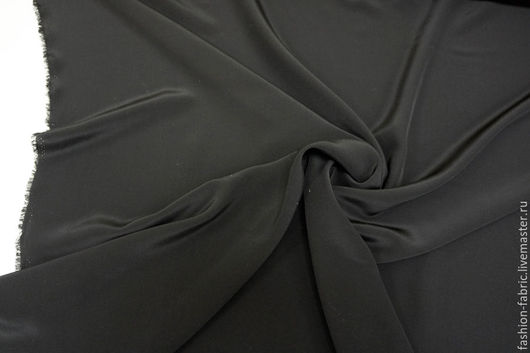Шитье ручной работы. Ярмарка Мастеров - ручная работа. Купить Ткань Шелк черный крепдешин PRT 7281638 Италия Цена за метр. Handmade.