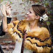 Горжетки ручной работы. Ярмарка Мастеров - ручная работа Горжетка из лисы нарядная, болеро. Handmade.