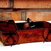 Для дома и интерьера ручной работы. Ярмарка Мастеров - ручная работа Кожаная коробка для мелочей.. Handmade.