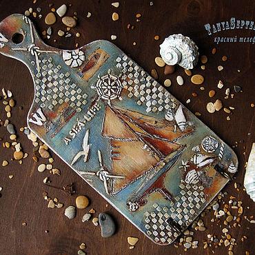 For home and interior handmade. Livemaster - original item Housekeeper: The housekeeper hanger MARINE LIFE. Handmade.