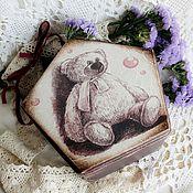 """Для дома и интерьера ручной работы. Ярмарка Мастеров - ручная работа шкатулка """"Мишка"""". Handmade."""