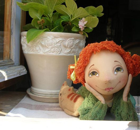 Scented Dolls handmade. Livemaster - handmade. Buy dreams bloom in my heart....Primed textiles, happiness, paint acrylic