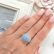 Украшения ручной работы. Ярмарка Мастеров - ручная работа Кольцо с серым агатом серебро, красивый круглый натуральнкамень камень. Handmade.