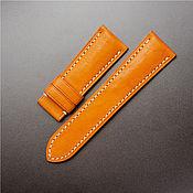 handmade. Livemaster - original item Calf leather watchband (22). Handmade.