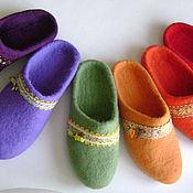 Обувь ручной работы. Ярмарка Мастеров - ручная работа Тапочки Краски осени. Handmade.