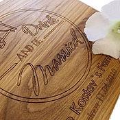 """Подарки ручной работы. Ярмарка Мастеров - ручная работа Дубовая доска с гравировкой """"and be married"""". Handmade."""