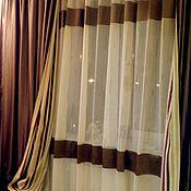 Для дома и интерьера ручной работы. Ярмарка Мастеров - ручная работа Шторы и покрывало в спальню Модерн. Handmade.