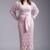 """Одежда ручной работы. Ярмарка Мастеров - ручная работа Вязанное платье """"Фламинго """". Handmade."""