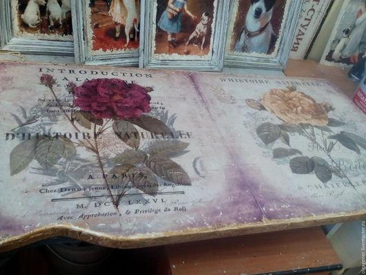 Картины цветов ручной работы. Ярмарка Мастеров - ручная работа. Купить Панно-столешница из толстого дерева Histoire Naturelle W0133. Handmade.